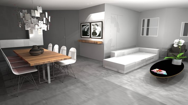 Salon contemporain c design architecture d 39 int rieur et for Salon style contemporain